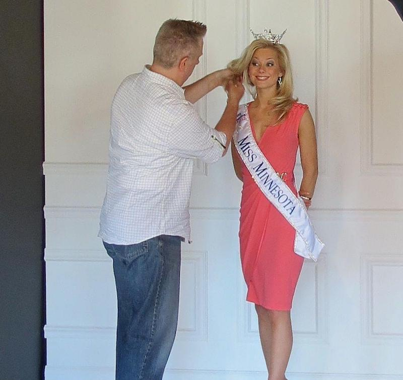 Bruce Vassar prepares Miss Minnesota pageant winner