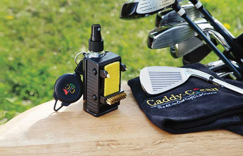 Golf club cleaner and golf clubs