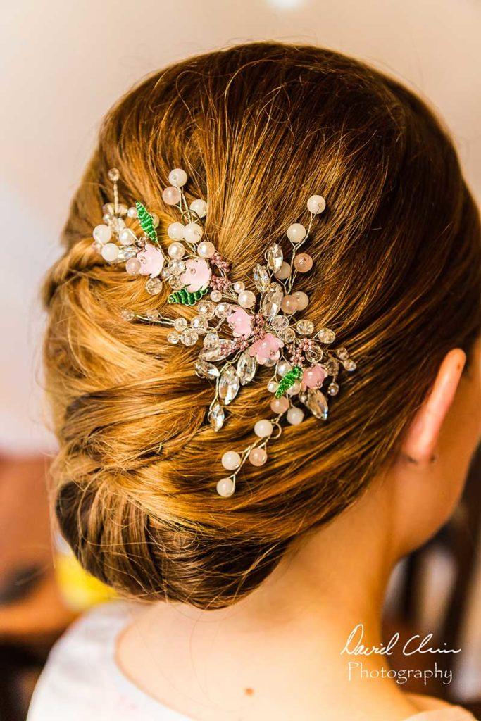 Bridal hair with jewel headpiece