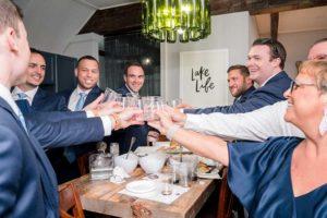 Groomsmen toast before wedding