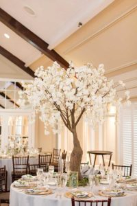 Cherry blossom table decor