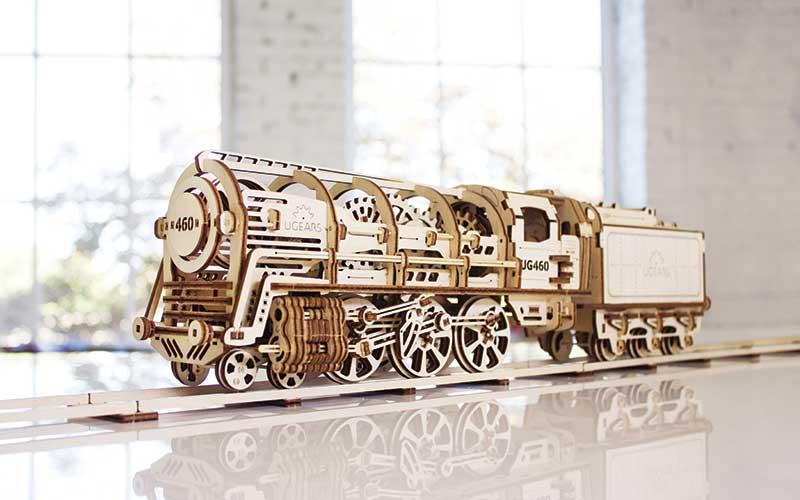 Wooden model train car