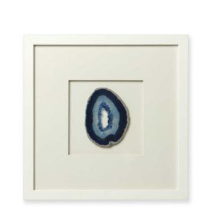 Slice of blue agate in picture frame