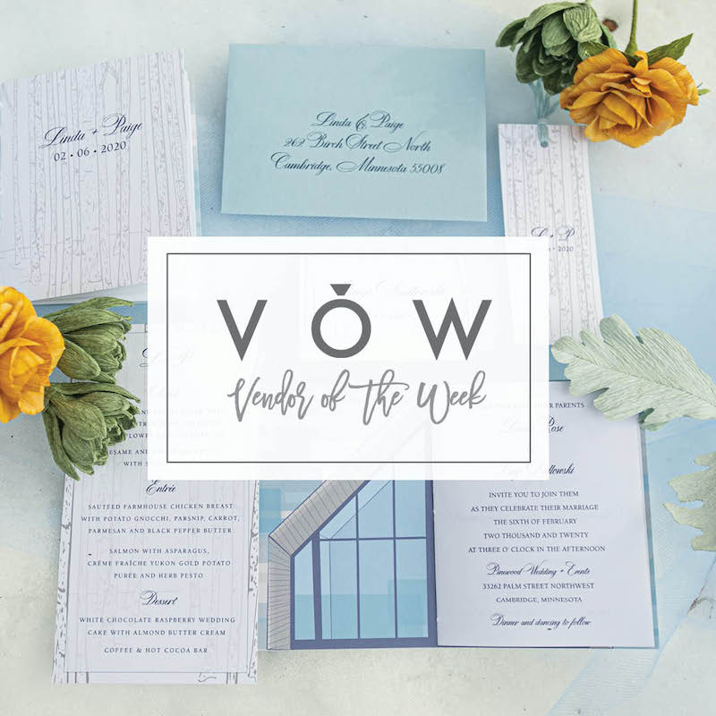 Blue and white classic wedding invitations from Epitome Papers