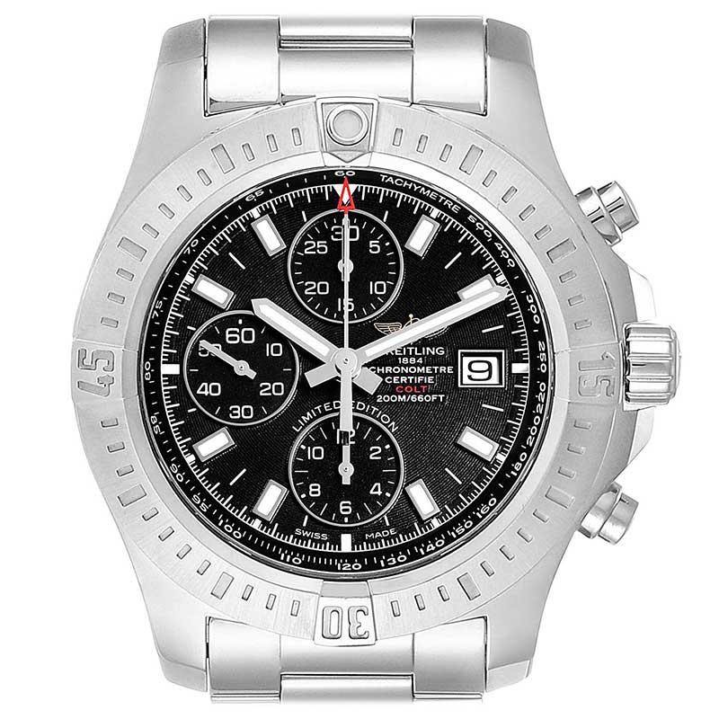Breitling colt black stainless steel men's watch